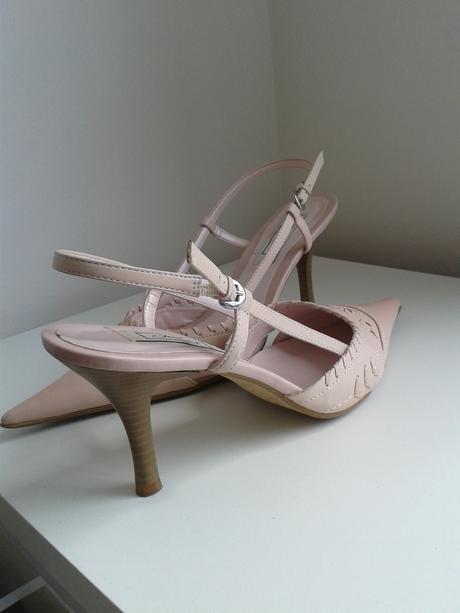 Elegantní jarní/letní lodičky, barva nádech růžové, 41