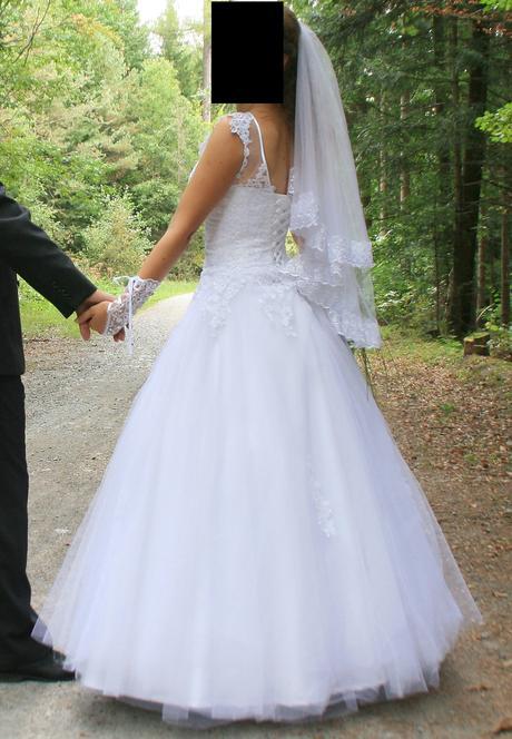 Svatební šaty vel. 34-38 na šněrování, 36