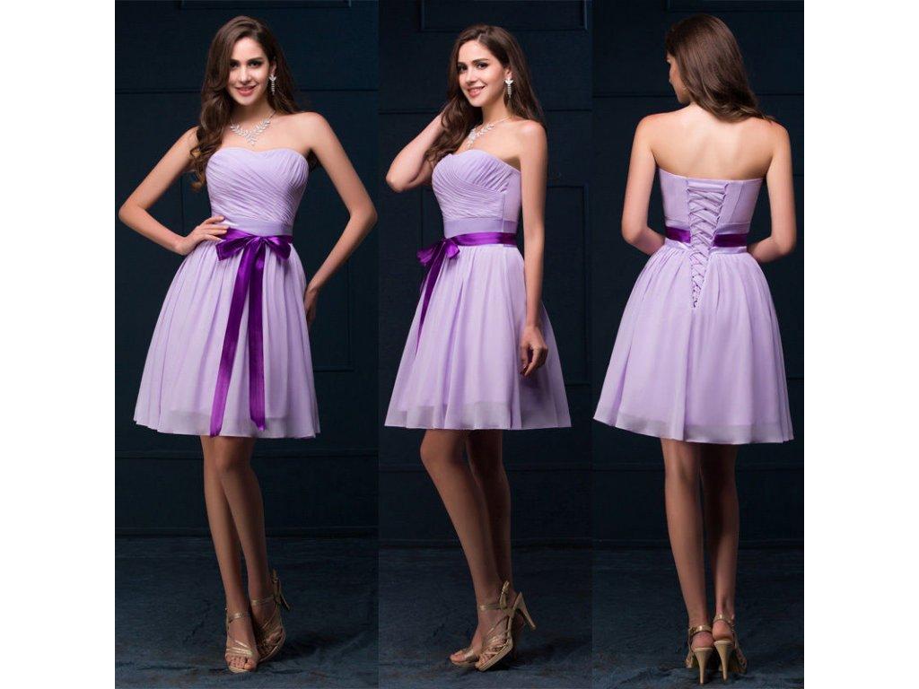 7174c42c64bb Korzetové lila společenské šaty