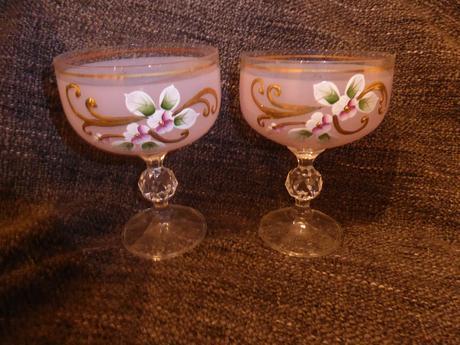 Malované skleničky 2 ks,