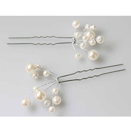 Vlásenky s perličkami - cena za 6 ks,