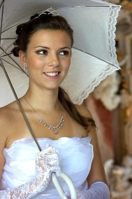 Svatební deštník krajkový,