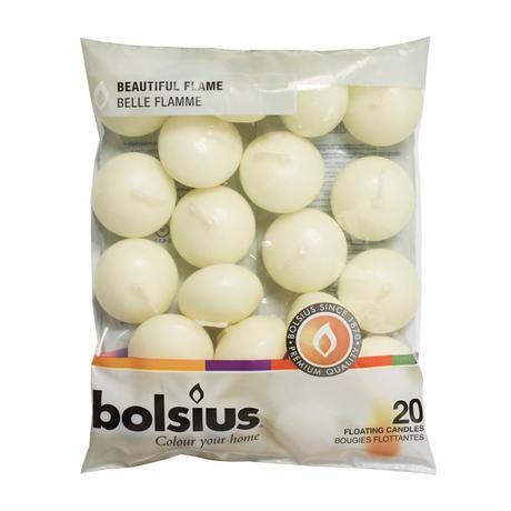 Plávajúce sviečky značky Bolsius 20 kusov,