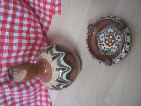 bulharská keramika džbán a popolník aj jednotlivo,