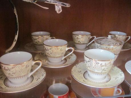 čajová alebo kávová súprava,