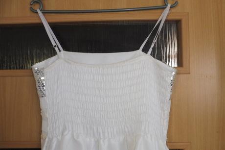 bílé šaty s flitry vel., 42