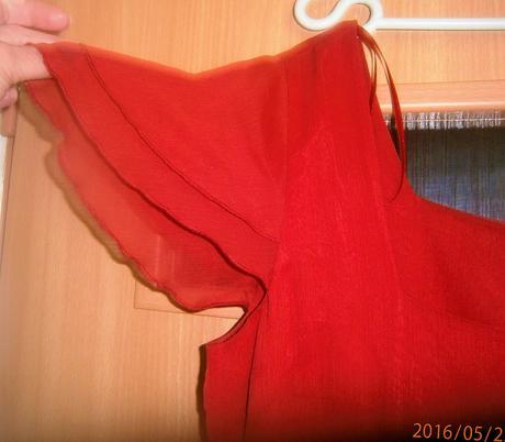 červené asymetrické šaty vel., 42