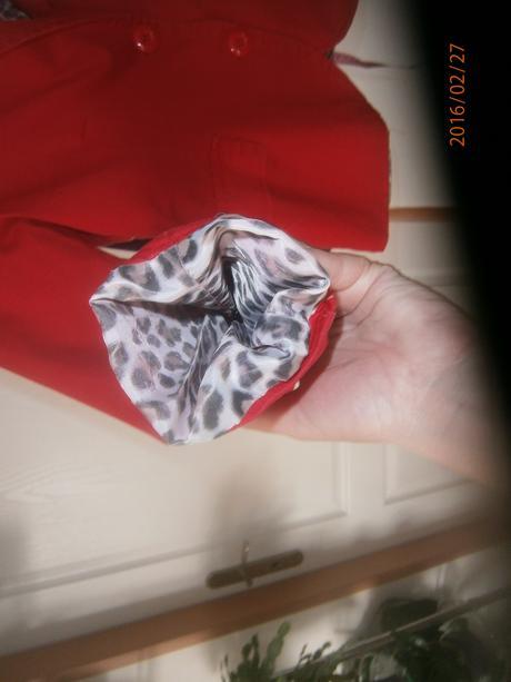 červené sáčko s podšívkou vel., 40