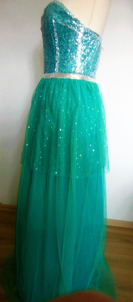 jemné šaty mintové barvy vel.38, 38