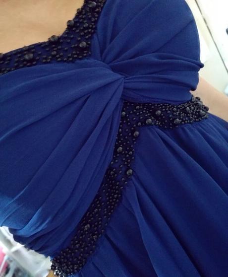 modr šaty vel.42, 44