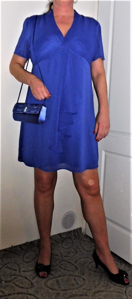 modré šaty vel.44, 46
