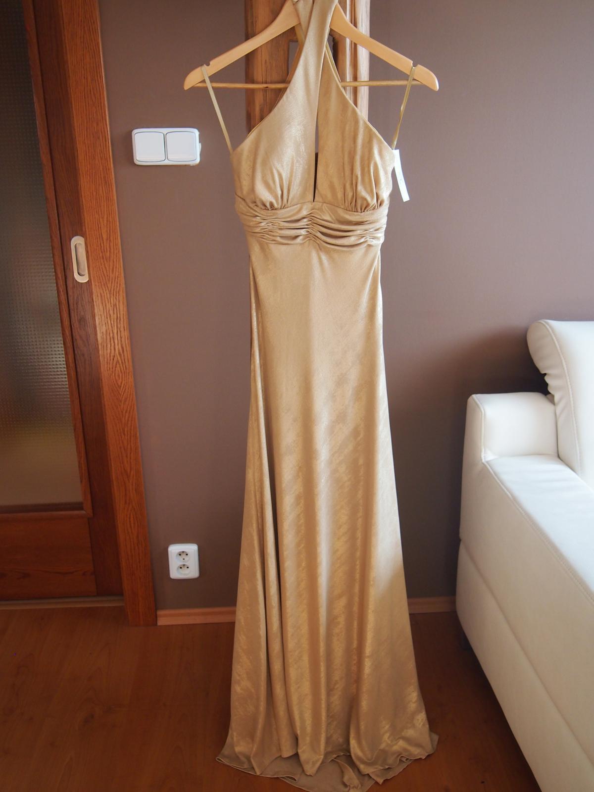 1c4f9c0aa05d Společenské zlaté šaty s visačkou