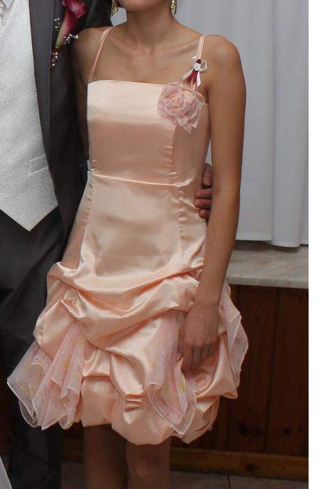 Marhuľkové spoločenské šaty - S, 36