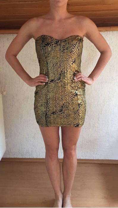 Zlaté krátké šaty Amisu, 38
