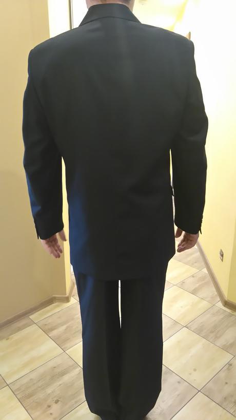 Pánský svatební oblek černý, 52