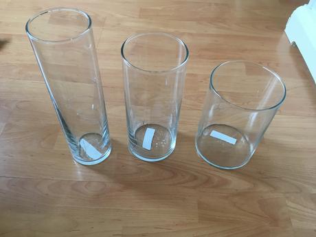 Svícny/vázy IKEA, sada Cylinder,