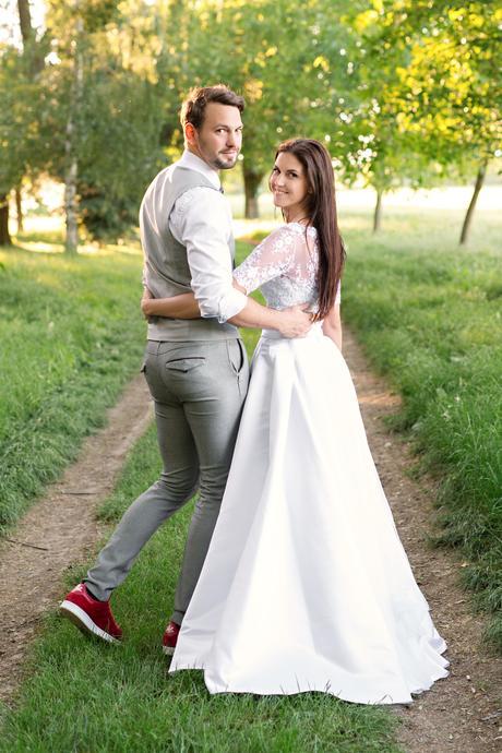 2- dielne svadobné boho šaty  , 34
