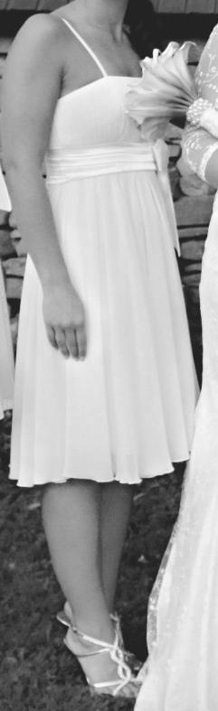 Krátke spoločenské šaty krémové, 36