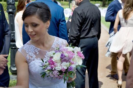 Svatební náušnice ve tvaru kapky,
