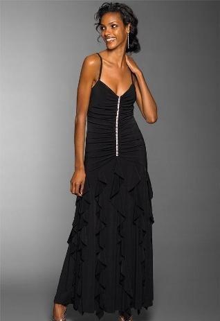 Čierne spoločenské šaty - veľ. S/M, 36