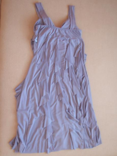 Pohodlné šaty svetlo-fialovej farby, aj tehotenské, 38
