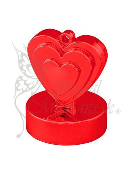 Balónové závažie červené srdce - posledné 3 ks,