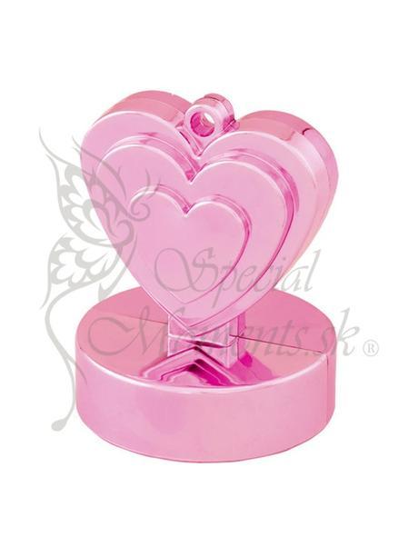 Balónové závažie ružové srdce-posledné 7 ks ,