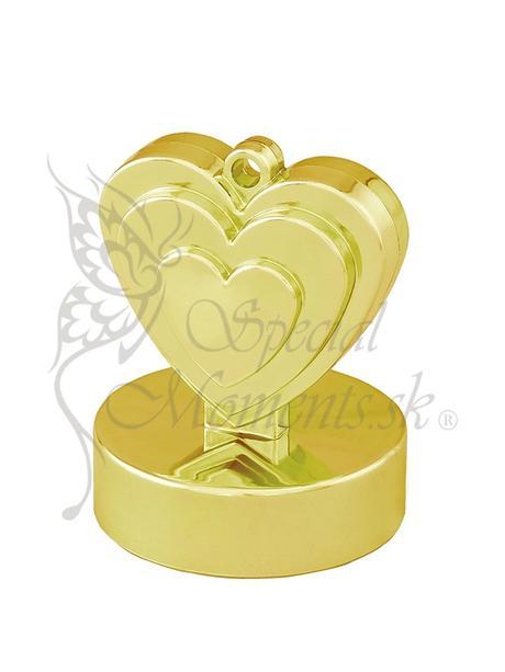 Balónové závažie zlaté srdce - posledný 1 ks ,
