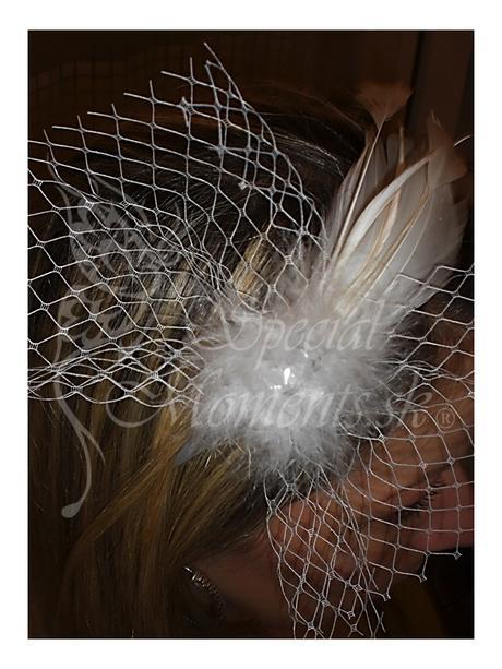 Čelenka Elegance Biela-posledných 5 kusov,