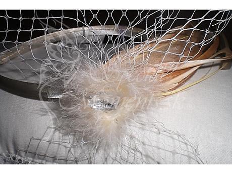 Čelenka Elegance Ivory - posledné 2 ks,