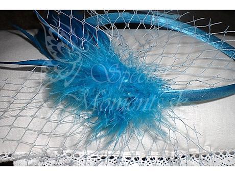 Čelenka Elegance Modrá-posledných 5 ks,