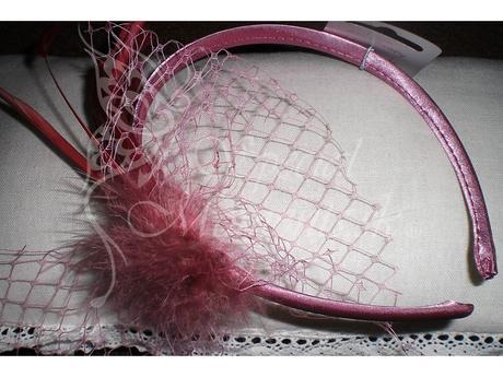 Čelenka Elegance Ružová-posledných 5 kusov,