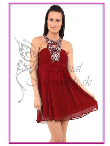 Červené mini šaty egyptský štýl - posledné 2 ks, M