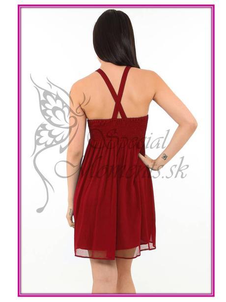 Červené mini šaty egyptský štýl - posledné 2 ks, S