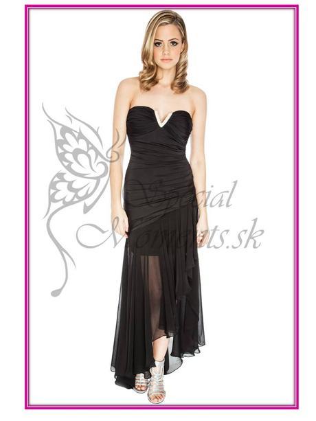 Čierne korzetové šaty - mierna vada, 40