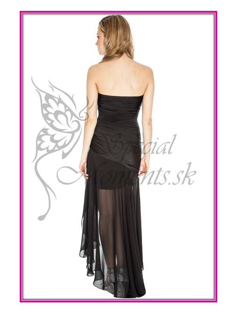Čierne korzetové šaty - mierna vada, 42