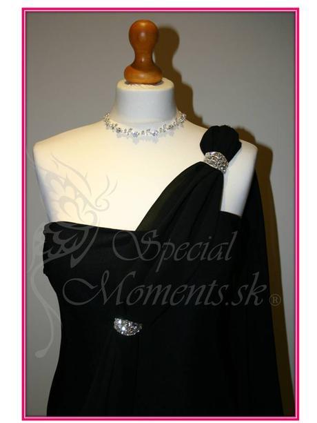 Čierne šaty v antickom štýle - posledný kus, XL
