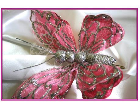 Dekoračné glitrované motýle - posledné kusy ,