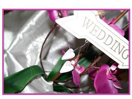 Drevená biela tabuľka Wedding -výpredaj,