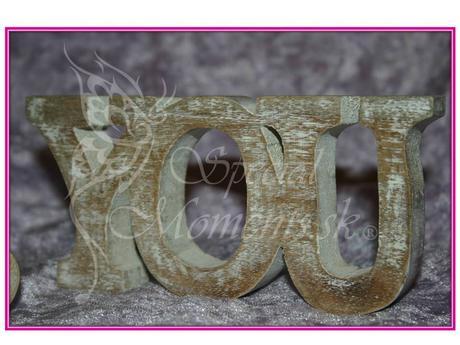 Drevené Slová Me & You - výpredaj,