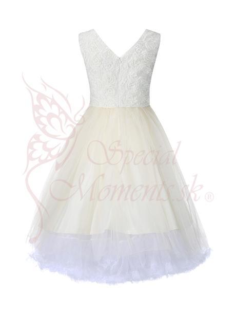 Exkluzívne šaty krémové veľkosť od 34-46, 34