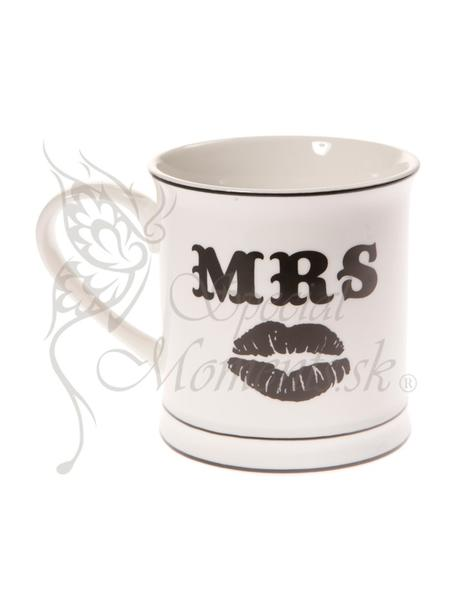 Keramická šálka Mrs s ústami,
