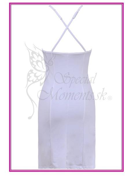 Letné biele mini šaty - posledné 2 kusy, S