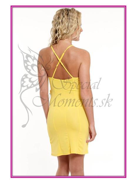 Letné žlté mini šaty - posledný kus, M