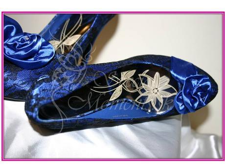 Modré čipkované topánky, 36
