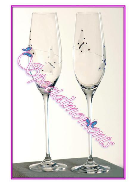 Svadobné poháre Butterfly Duo 2 ks,