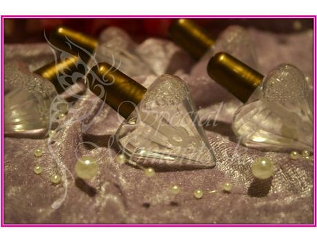 Svadobný bublifuk diamantové srdiečko zlaté,