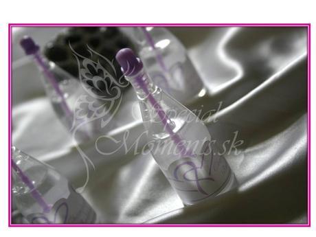 Svadobný bublifuk fialové šampanské,