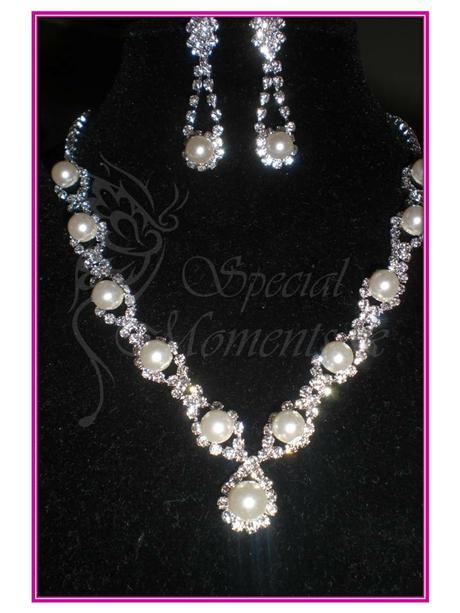 Svadobný set biela perla,