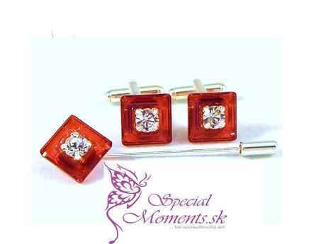 Swarovski Set Frame Červeno Oranžový,